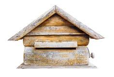 Isolated wood mailbox on white background Royalty Free Stock Images