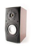 Isolated wood speaker. Stock Image