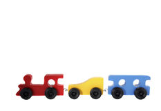 Isolated Wood Toy Train Royalty Free Stock Photography