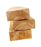 Isolated wood 2x4 studs Royalty Free Stock Photos