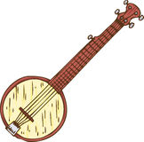 Isolated Wooden Banjo Stock Image