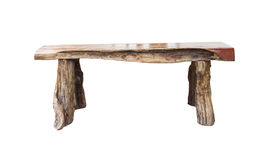 Isolated wooden bench Stock Photo