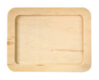 Isolated wooden board with frame Royalty Free Stock Photography
