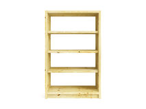 Isolated wooden bookcase Stock Images
