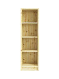 Isolated wooden bookcase Stock Photos