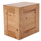 Isolated wooden box Stock Photography