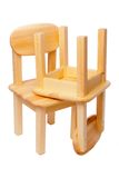 Isolated wooden chairs Royalty Free Stock Photos