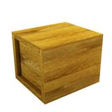 Isolated wooden crate Royalty Free Stock Image