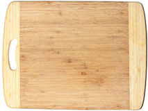 Isolated wooden cutting board Royalty Free Stock Photo