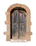 Isolated wooden door Royalty Free Stock Photo
