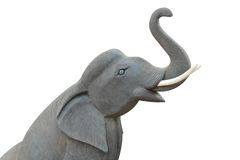 Isolated  wooden elephant  model Royalty Free Stock Image