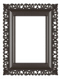 Isolated wooden frame on white background. Antique photo or mirror frame Royalty Free Stock Photo
