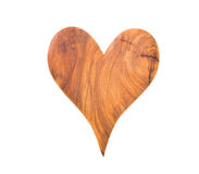 Isolated wooden heart for valentine on white background Stock Photo