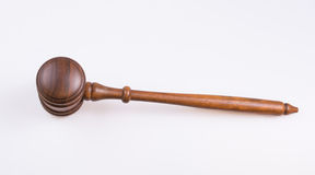 Isolated wooden judge gavel. Isolated wooden Judge's gavel from above Stock Photography