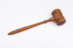 Isolated wooden judge gavel Royalty Free Stock Photos