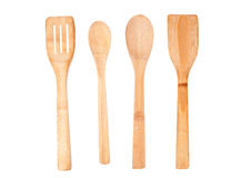 Isolated Wooden Kitchen Utensils Royalty Free Stock Image