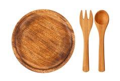 Isolated Wooden Kitchen Utensils Stock Photos