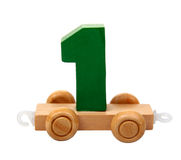 Isolated wooden number one  Stock Image
