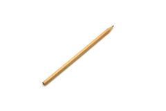 Isolated wooden pencil on white background Stock Photo