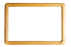 Isolated wooden photo frame Stock Image