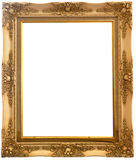 Isolated wooden Photo Frame Stock Photo