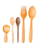 Isolated Wooden spoons Stock Image