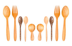 Isolated Wooden spoons Royalty Free Stock Photo