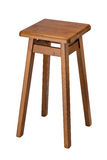 Isolated wooden stool Stock Image