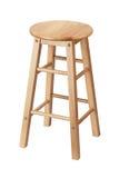 Isolated wooden stool Stock Photo