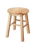Isolated wooden stool Stock Photos