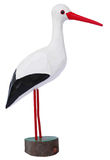 Isolated wooden stork. Stock Images