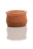 Isolated wooden sugar-basin Stock Image