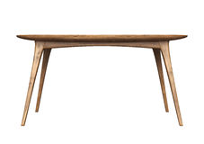 Isolated wooden table Royalty Free Stock Photos