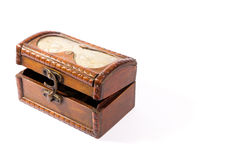 Isolated wooden treasure chest Stock Photo
