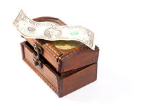 Isolated wooden treasure chest Stock Photos