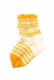 Isolated wool baby sock Stock Photo