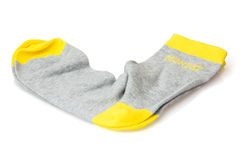 Isolated wool socks with inscription MONDAY Royalty Free Stock Images