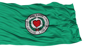 Isolated Worcester City Flag, United States of America. Isolated Worcester City Flag, City of Massachusetts State, Waving on White Background, High Resolution vector illustration