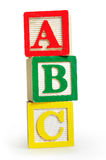 Isolated word ABC Royalty Free Stock Photo