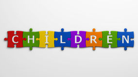Word children Stock Photo