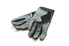 Isolated Work Gloves Stock Images