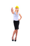 Isolated Worker Woman Royalty Free Stock Image