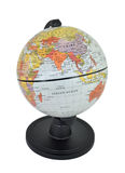 Isolated World Globe Featuring Asia. Isolated world globe with black stand on a white background, Focusing on Asia including India, China and the Indian Ocean stock photos