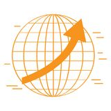 Isolated world icon. Business concept. Vector illustration design Royalty Free Stock Photos