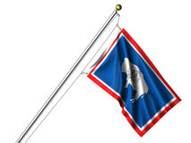 Isolated Wyoming Flag Royalty Free Stock Photography