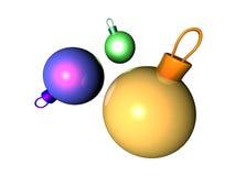 Isolated Xmas Balls Stock Photo