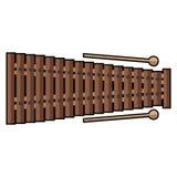 Isolated xylophone icon Royalty Free Stock Photos