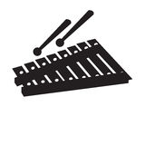 Isolated xylophone silhouette Royalty Free Stock Image