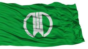 Isolated Yamagata Flag, Capital of Japan Prefecture, Waving on White Background Stock Images