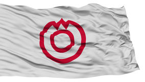 Isolated Yamaguchi Flag, Capital of Japan Prefecture, Waving on White Background Royalty Free Stock Image
